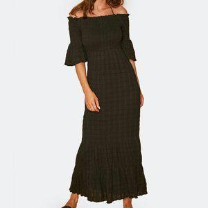 Lost + Wander Black Aria Maxi Dress